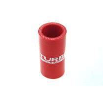 Szilikon összekötő, egyenes TurboWorks Piros 35mm